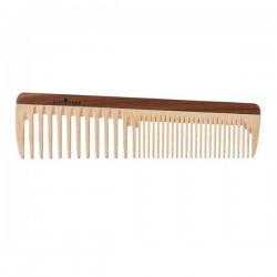 Peine de madera de púas anchas y normales 19cm.