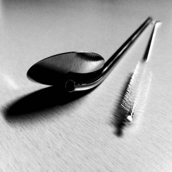 Pajita con cuchara de acero inoxidable
