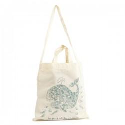 """Bolsa de algodón orgánico para la compra """"Be Part of the change"""""""