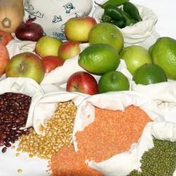 Reusable produce organic cotton bag