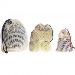 Sac à vrac réutilisable en filet coton bio