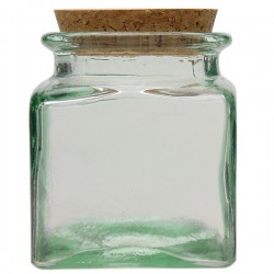 Tarro de vidrio reciclado cuadrado 0,5l.