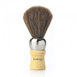 Brocha Afeitar Barbera Profesional Pelo Caballo Marrón Ø21mm.