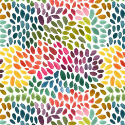 Organic cotton fabric with colour dots
