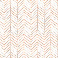 Tela de algodón orgánico estampado geométrico naranja